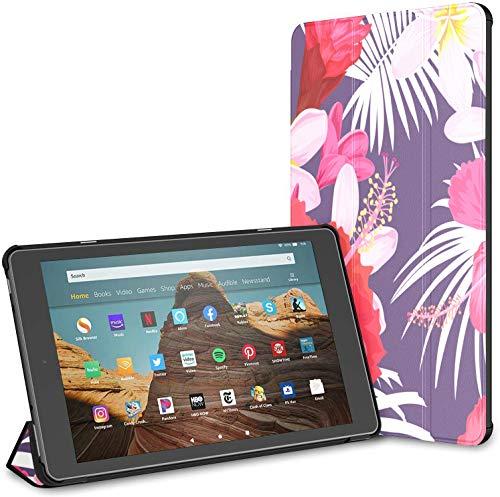 Estuche para Tableta Plumeria Popular Summer Flower Fire HD 10 (9.a / 7.a generación, versión 2019/2017) Estuche para Tableta Fire HD 10 Estuche para Tableta de 10 Pulgadas Auto Wake/Sleep para Tab