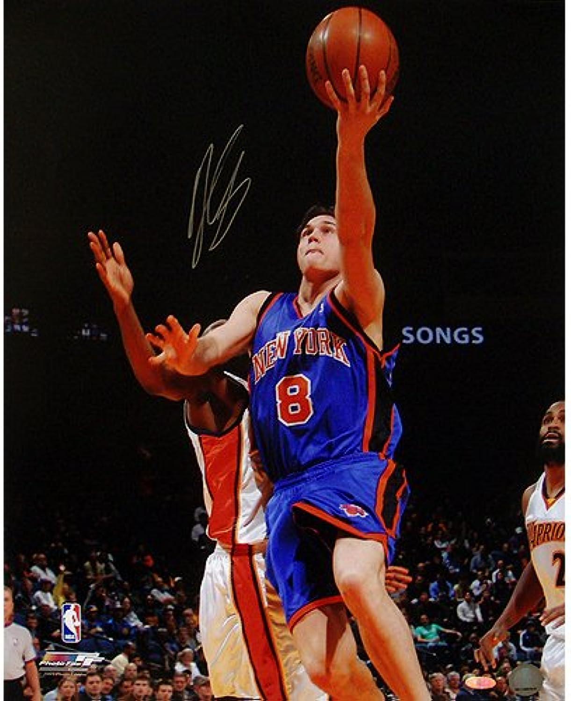 NBA New York Knicks Danilo Gallinari blueee Jersey LayUp Vs. Warriors Photograph, 6 x 20Inch