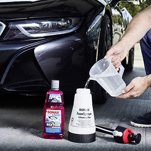 SONAX XTREME RichFoam Shampoo (1 Liter) Schaum-Shampoo / Snow Foam Shampoo erzeugt dichten, langhaftenden & schmutzlösenden Schaumteppich, ph-neutral, Berry-Duft | Art-Nr. 02483000