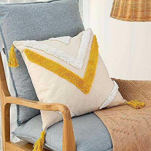 Fodera per cuscino per divano trapuntato, motivo floreale, 45 x 45 cm