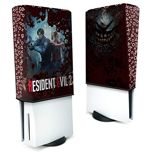 Capa Anti Poeira PS5 Vertical - Resident Evil 2 Remake
