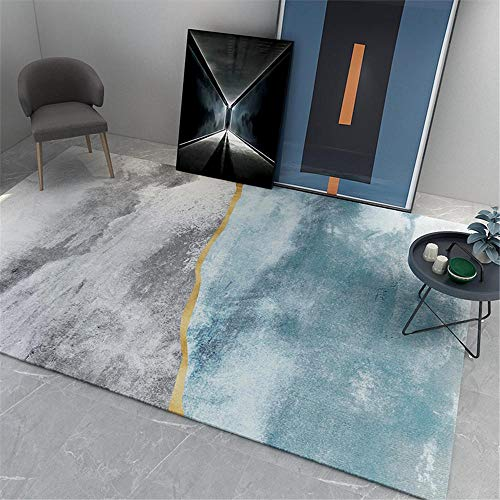 cameretta ragazza moderna tappeti camera ragazzi Tappeto soggiorno camera da letto grigio blu, antimacchia, resistente all'usura e resistente al colore camera ragazza 120X160CM 3ft 11.2'X5ft 3'