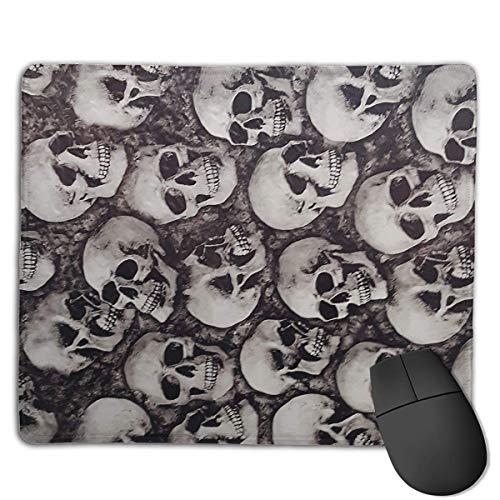 Alfombrilla de ratón Cool Skulls Seamless Art Rectangular Mousepad Antideslizante Gaming Mouse Pad Mouse Mat 25X30CM