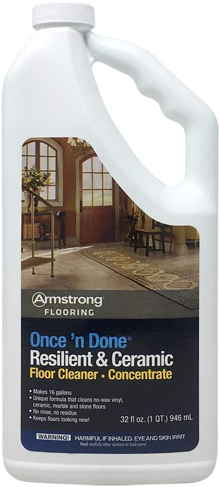 Armstrong Once'n Done Resilient Concentr Cleaner Max 41% OFF Ceramic Floor Max 47% OFF