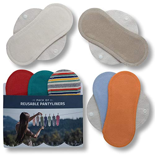 Salvaslips de tela reutilizables, 7-Pack Protege Slips de