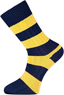 Win-or-Lose Sports Fan Memorabilia Striped Socks, Perfect Football/Rugby Gifts For Men, Football Fan Gifts, Various Sizes