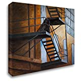Atelier B Art Studio 21x20 Gallery Wrapped Stretched Canvas Art Titled: Apartment Building Escape in NYC