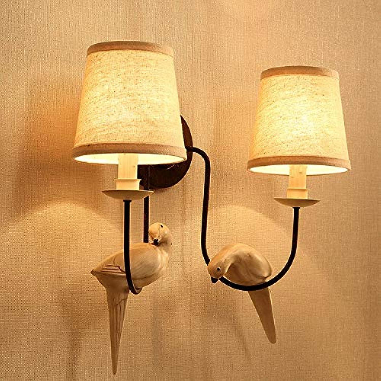 StiefelU LED Wandleuchte nach oben und unten Wandleuchten Schlafzimmer Wandleuchten franzsische Vogel licht Wohnzimmer Flur, Doppel