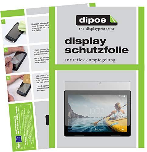 dipos I 2X Schutzfolie matt kompatibel mit Medion Lifetab E10714 Folie Bildschirmschutzfolie