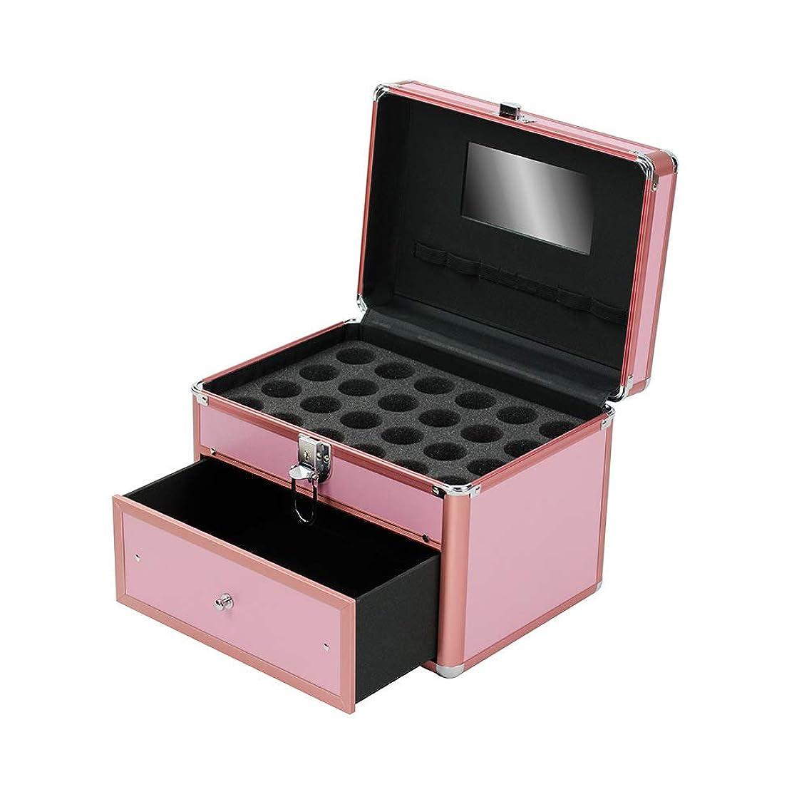 誘惑する餌応じる特大スペース収納ビューティーボックス 女の子の女性旅行のための新しく、実用的な携帯用化粧箱およびロックおよび皿が付いている毎日の貯蔵 化粧品化粧台