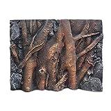 Caige Acuario del Reptil 3D de la Forma del Fondo de raíz Espuma de Poliuretano,Marrón