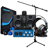 Presonus Audiobox USB 96 Ultimate Bundle Recording Set azul + soporte para micrófono keepdrum