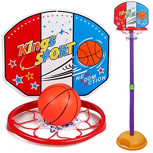 QQJL Equipo de Fitness para niños Elevador de aro de Baloncesto aro de Baloncesto Interior y Exterior Cesta de Hierro de plástico Soporte de Baloncesto Equipo de Fitness de Boxeo para niños