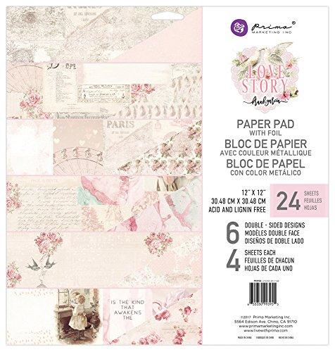 Prima Marketing Love Story-12x12 Paper Pad