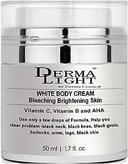 WHITE BODY CREAM/Bleaching Brightening Skin- Derma Light