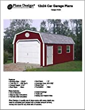 12' X 24'Barn/gambrel Shed/garage Project Plans -Design #31224