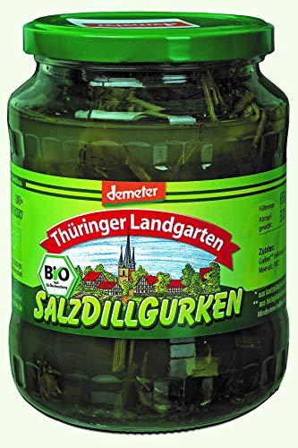 Thüringer Landgarten Bio Salzdillgurken, 1er Pack (1 x 720 ml)