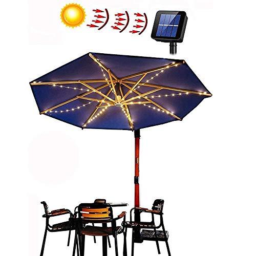 LED Solar Lichterkette für Sonnenschirm, Solar Sonnenschirm Lichter, Sonnenschirm Beleuchtung Solar, LED Solar Sonnenschirm Lichterkette Solar Schirm Beleuchtung Deko für Regenschirme, Campingzelte