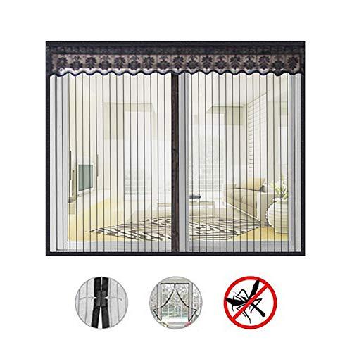 Anti moustique Moustiquaire magn/étique,Avec velcro collant,Auto-adh/ésif Moustiquaire velcro Amovible-C 47x59inch 120x150cm