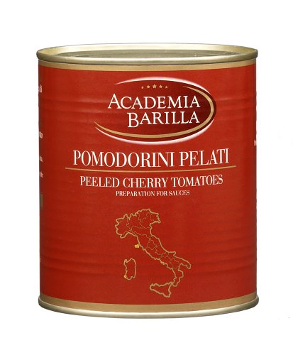 Academia Barilla Peeled Cherry Tomatoes - 28.2oz Can (Pack of 12)