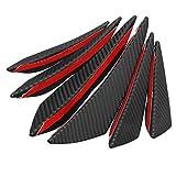 ZGYCYDLX 6pcs / Set Universal Fit Tope Delantero del Reborde del difusor Splitter Aletas Cuerpo Alerón Canards Chin Tuning Car (Color : 6Pcs)
