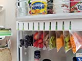 Zip n Store - Your Refrigerator Organizer Bins - Seal-top Bags Easy Fridge Organizer - Organizes 10 Bags, Perfect For Leftovers, Easy To See & Install, Access Food, Quick Access Slide Track - Door