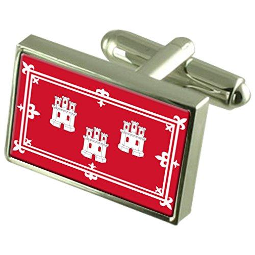 Select Gifts Aberdeen City Inglaterra Bandera Gemelos Cuadro Grabado
