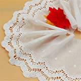 Lace Crafts - 5Yds/lot Width 16.5cm Beautiful Beige Cotton Unilateral Openwork Embroidery lace Women's Skirt Clothes lace AC511