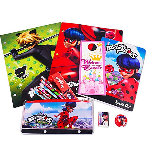 Miraculous Ladybug School Supplies Value Pack -- Folders, Notebook, Pencils and More