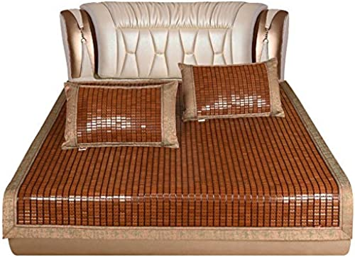YONG FEI Bambusmatte - Home verfügt über Bambus-Mahjong-Matratzenmatten - ZWeißrün erh lich Sommer-Schlafmatte (Größe   180X20cm  )