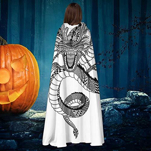 NULLYTG Disfraz de dragn azteca Shenron Dragon Ball Z, unisex, para Navidad, Halloween, caballero bruja con capucha, capa de vampiros