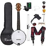 Banjo Ukulele Concert Size 23 Inch With Bag Tuner Strap Strings Pickup Picks...