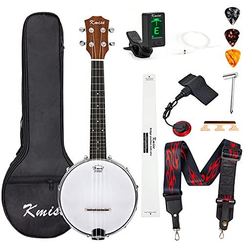 Banjo Ukulele Concert Size 23 Inch With Bag Tuner Strap Strings Pickup Picks Ruler...