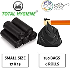 TOTAL HYGIENE Garbage Bag (Small) Size 17 Inch x 19 Inch (180 Bags) (6 Rolls)