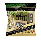 King Palm Mini Size Natural Pre Wrap Palm Leafs (1 Pack of 25, 25 Rolls Total) - Pre Rolled Cones - All Natural Cones - Corn Husk Filter - Preroll Cones - Prerolled Cones with Filter - Organic Cones