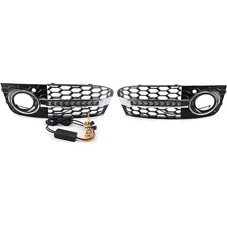 Kkmoon Auto Gitter Frontstoßstange Nebelscheinwerfer Gitter Wabengitter Led Blinker L R Mesh Für Auto Auto