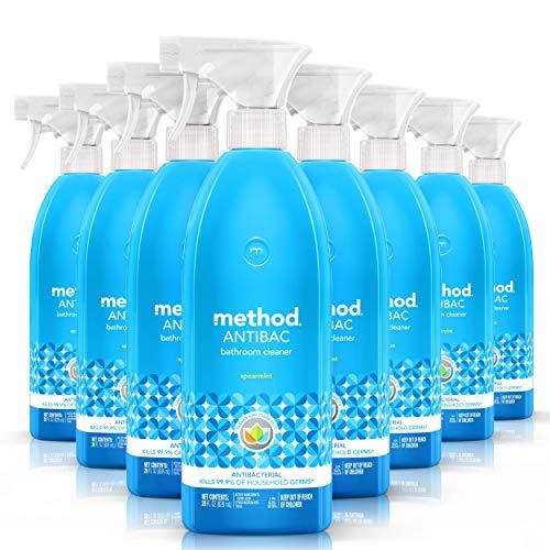 Method Antibacterial Bathroom Cleaner, Spearmint, 28 Ounce (Pack 8)
