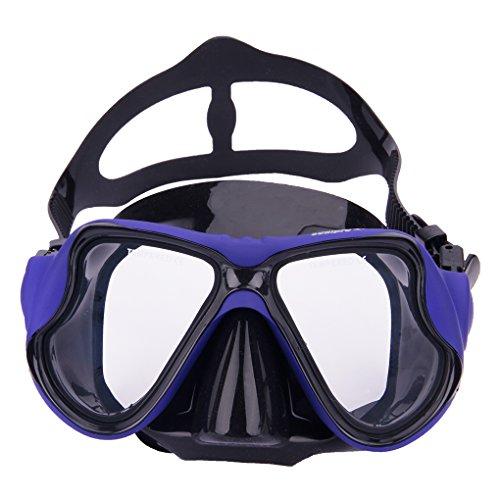 YSXY Erwachsene Schwimmbrille Taucherbrille UV Schutz & Anti-Fog Schwimmen Brille Schutzbrillen für Damen und Herren, Verstellbares Silikonband