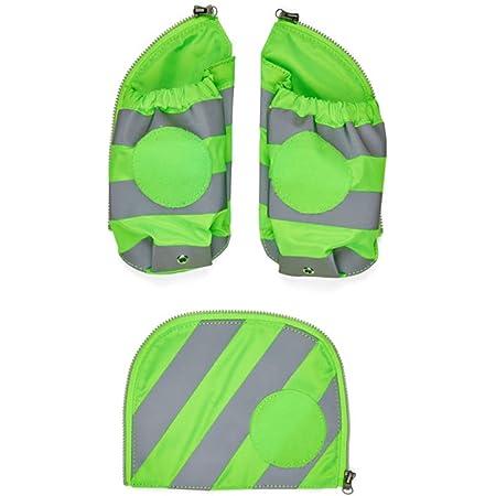 ergobag Seitentaschen Zip-Set mit Reflektorstreifen - Sicherheits-Set mit Seitentaschen, pack, cubo und cubo light, Set 3-teilig