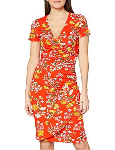 Joe Browns Damen Vivacious Jersey Dress Lssiges Kleid, A-Rot Multi, 42