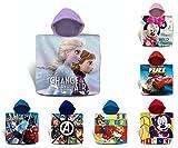TIENDA EURASIA® Toalla de Playa Infantil de Poncho - 100% Algodón - Diseños Disney - 60 x 120 cm (Frozen)