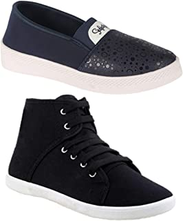 Axter Women Multicolour Latest Collection Sneakers Shoes- Pack of 2 (Combo-(2)-1207-5030)