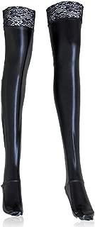 Womens Metallic Thigh High Stockings Elastic Stain Cosplay Socks