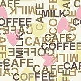Catral 40020029 Alfombra Cocina y Pasillo café, Poliester y Caucho, Marrón, Rosa y Amarillo, 60 x 40 cm