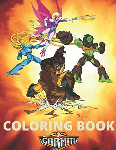 """Coloring book : GORMITI: GORMITI The Lords of Nature Return! large 8.5"""" × 11 """" inch 72 Pages Coloring Book for Kids Boys Girls High quality made in USA (COLORING BOOKS FOR KIDS)"""