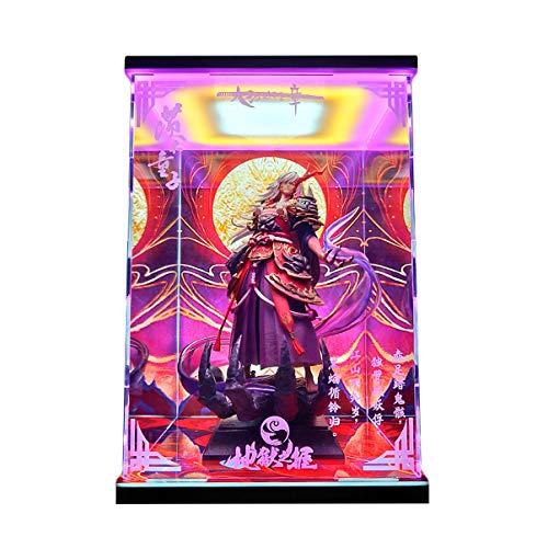 Onmyoji Ibaraki-Douji Dieu Formule caractère modèle d'affichage Boîte Haute résistance Acrylic LED HD à Jet d'encre à la Main GK Dust Cover (Size : NO Light)