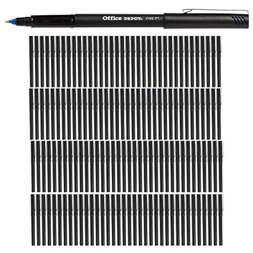 Office Depot (144 Pack) Rollerball Pens Fine Point Blue Ink Pens .07mm Bulk Set Pens for Office Supplies, School Supplies, Teacher Supplies