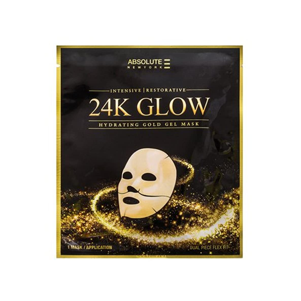 蒸留料理権限(3 Pack) Absolute 24K Glow Gold Gel Mask (並行輸入品)