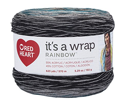 Red Heart It's A Wrap Rainbow Yarn, Couture Zwirn