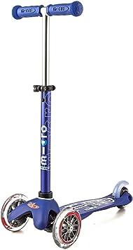 Micro® Mini Deluxe, Original Design, Patinete 3 Ruedas, 2-5 Años, Peso 1,95kg, Carga Máx: 50kg, Altura 48-68cm, Rodamientos ABEC 9, Plataforma ...